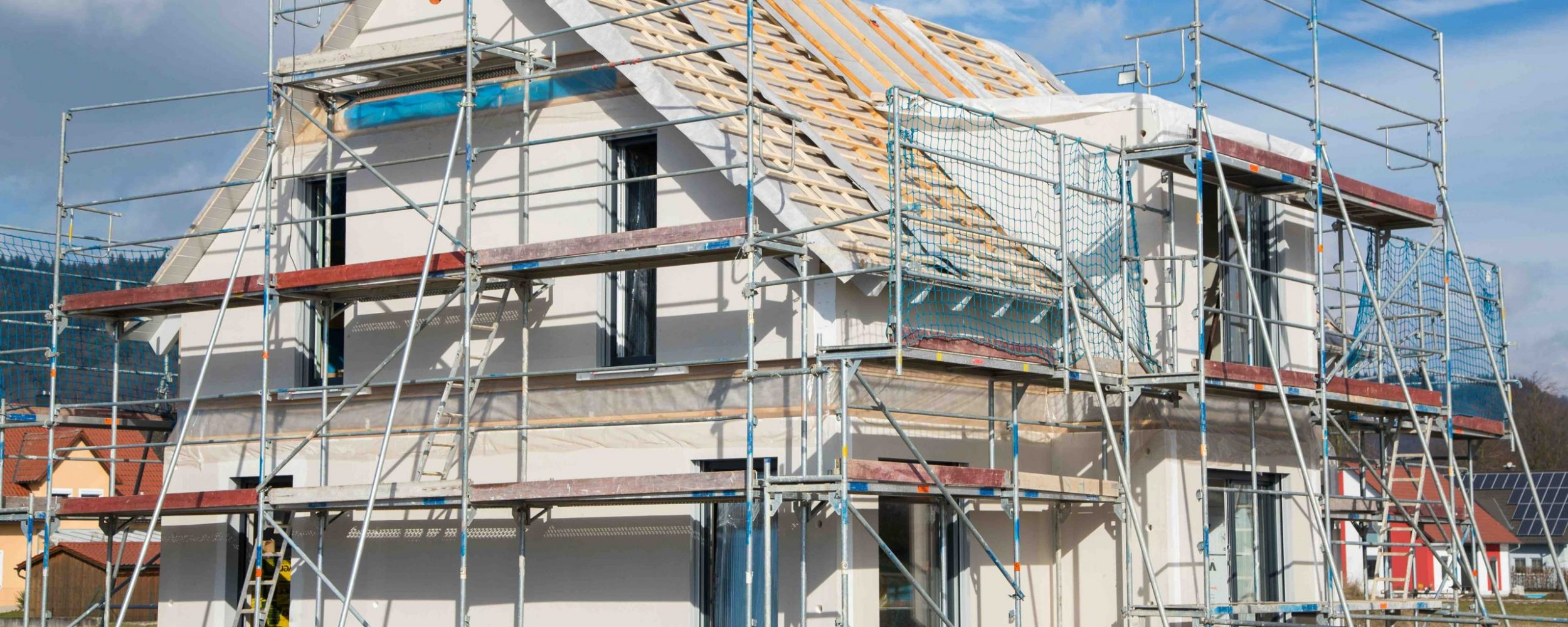 Baustelle: Neubau eines Einfamilienhauses